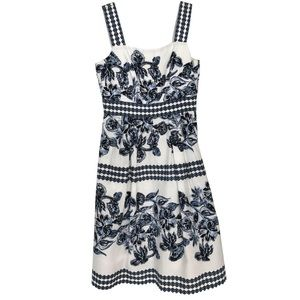 Vince Camuto Fit Flare Printed A-Line Floral Dress
